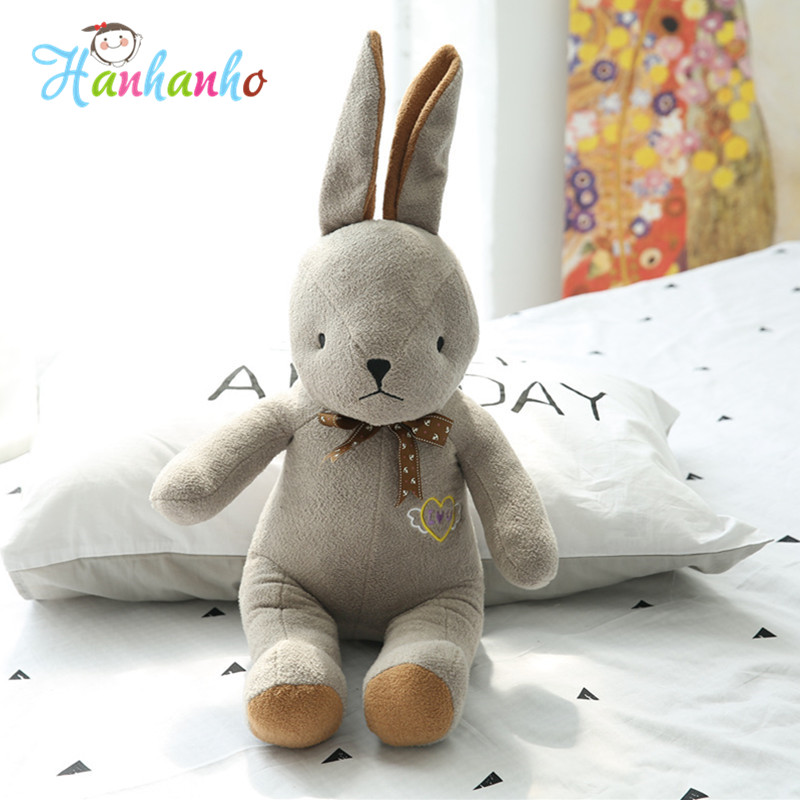 40cm Lovely Rabbit Plush Toy Cute Bunny Stuffed Animal Doll Kids Sleeping Toy Birthday Gift rabbit plush keychain cute simulation rabbit animal fur doll plush toy kids birthday gift doll keychain bag decorations stuffed