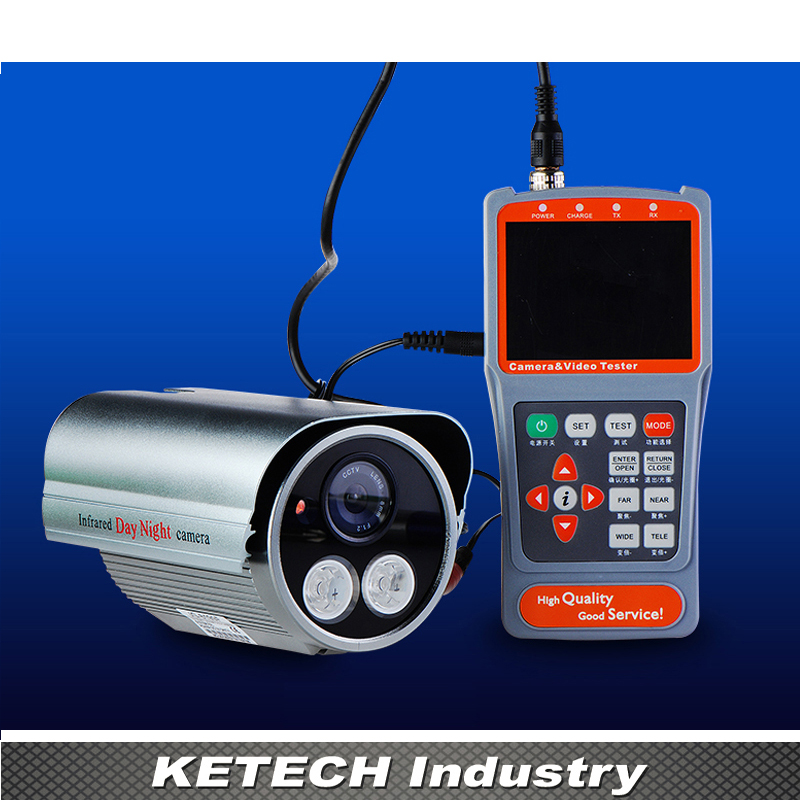 Digital UTP LAN Testing Network Receiver Tracking Handheld 3.5 LCD Monitor PTZ Operation Tester CCTV Camera Video Audio Test