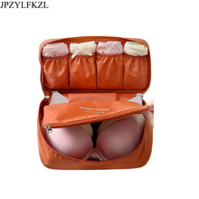 JPZYLFKZL Portable Women Makeup Bag Travel Bra Underwear Organizer Cosmetic Daily Supplies Toiletries Storage Case