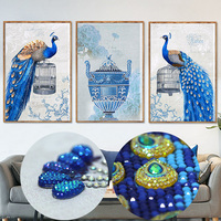 Diamond Embroidery With Special Shapes Diamond Paintings Cross Stitch Peacock Diy 5d Paintings Rhinestones Mosaic Pattern