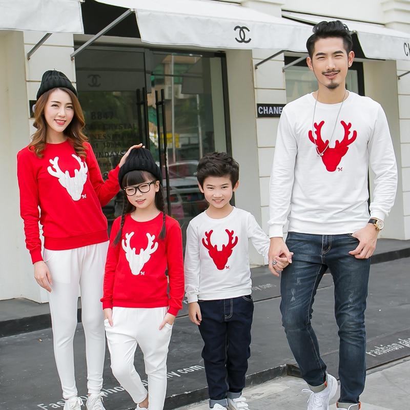 Rahat Aile Eşleştirme Kıyafet Bakmak Noel Geyik Tops Giyim Aile - Çocuk Giyim - Fotoğraf 2