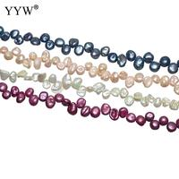 Charming Cultured Baroque Freshwater Pearl Beads Mixed Colors Bead 5 6mm For Necklace Bracelet Making 14.5 Inch Strand