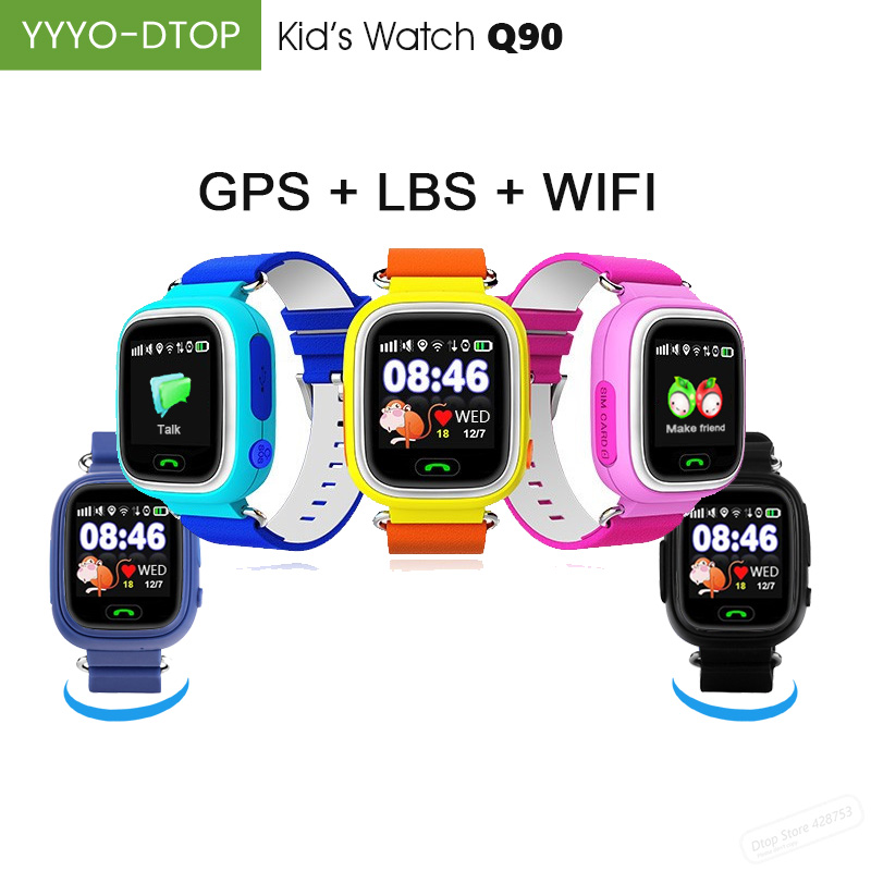 Spirited Yyyo-dtop Q90 Smart Watch For Kid Child Baby Wifi Gps Lbs Positioning Historic Track Sos Sim 2g 1.22 Color Touch Screen Smart Electronics