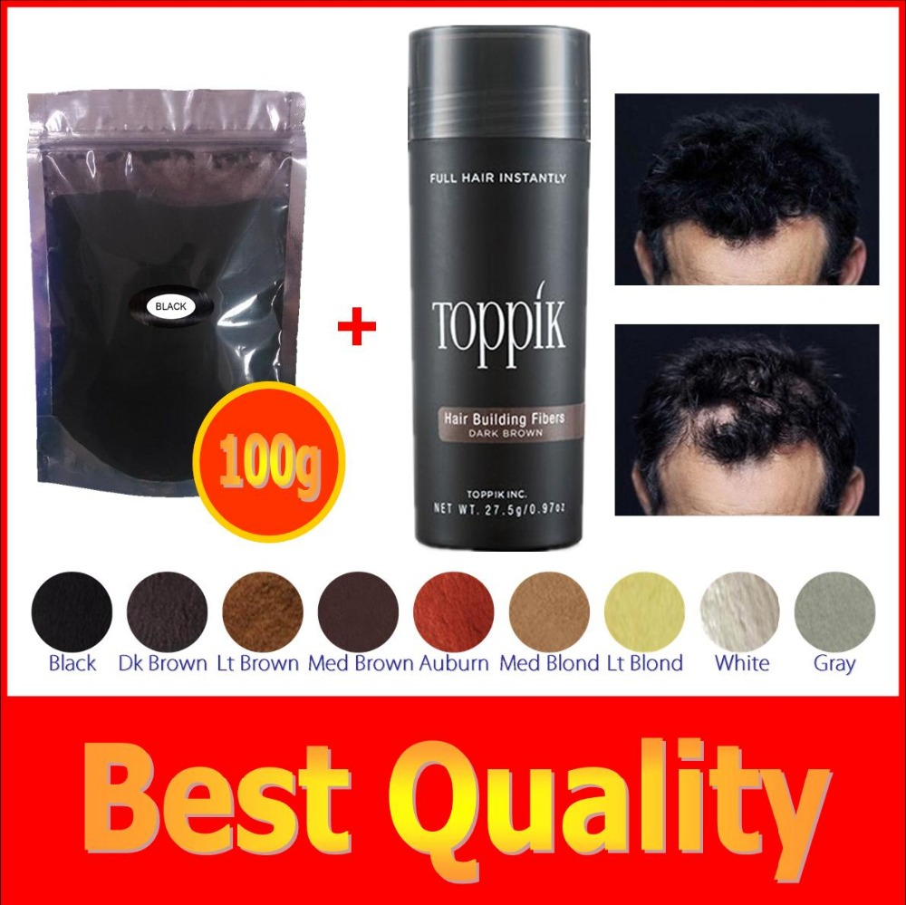 100g+ 27.5g bottle 9 colors hair building fiber for bulk or