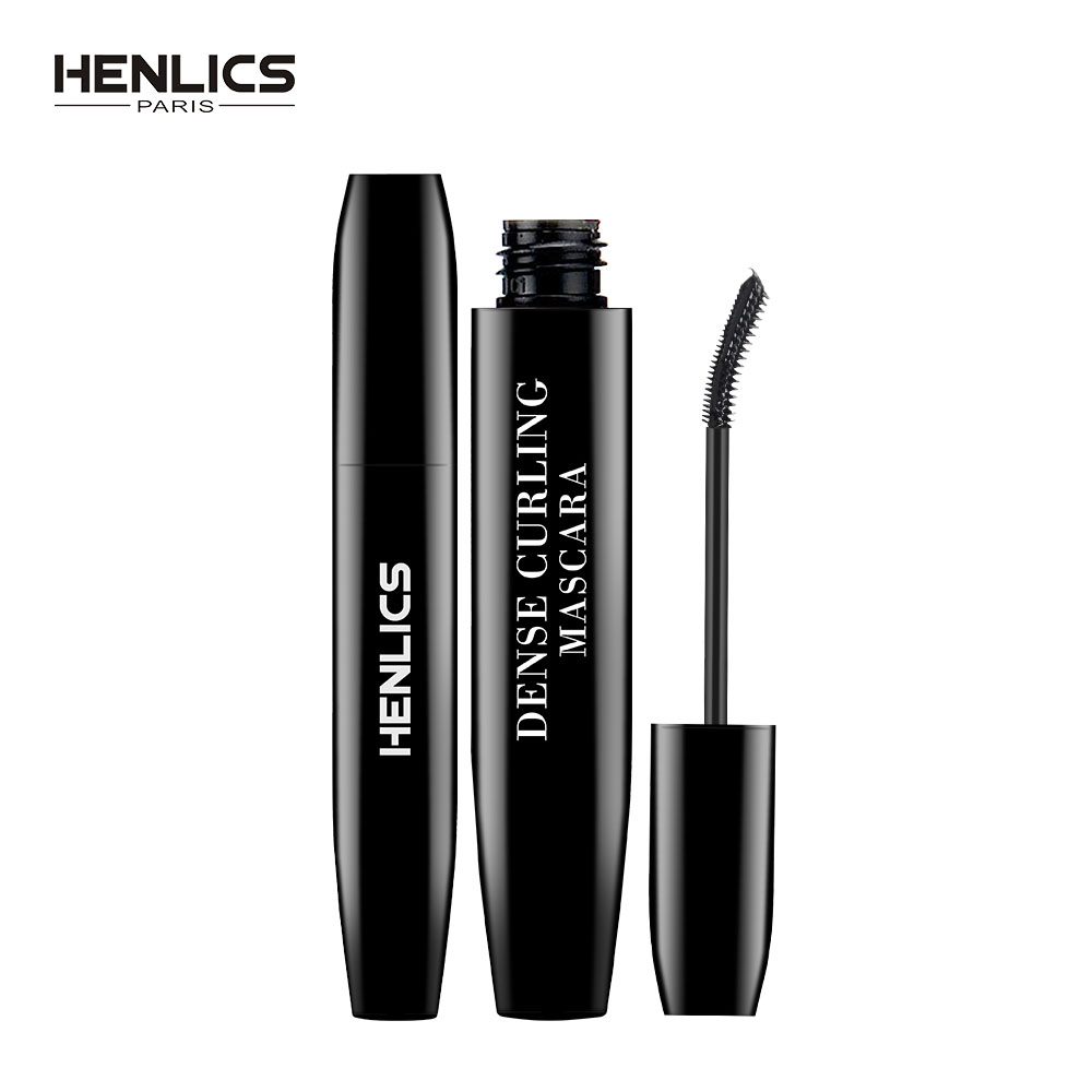 France Henlics Long Lasting Black Waterproof Curling Mascara Volume Eyelash Extension Makeup Cosmetic Mascara 60pcs lot roller eye lash black mascara curling full volumizing mascara real beyond mascara black 8 5g eyelash extension