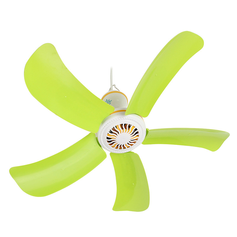 5 Blades Super Silent Hanging Fan 220V Household Mute Mini Loft Fan 8W Energy Saving fan bed