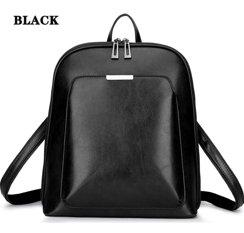 HTB1jNAiR3HqK1RjSZFEq6AGMXXaC 2019 Women Leather Backpacks For Girls Sac a Dos School Backpack Female Travel Shoulder Bagpack Ladies Casual Daypacks Mochilas