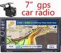 HD Pantalla Táctil de Coches Radio con Cámara Trasera de Navegación Gps Bluetooth FM RDS USB SD