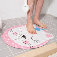 Carpet Bathroom Mat Cartoon Dog Type Cute Bathroom Shower Bath Waterproof Non slip Mat