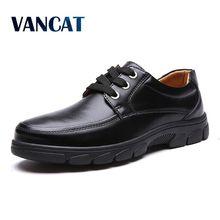 VANCAT 2018 New Luxury Business Dress Moccasins Flats Slip On New Men's Casual Shoes Dress Mens Business Shoes Work Men's Shoes