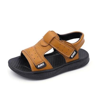 Little Kids Sandals for Boy Summer Beach Children Shoes Baby Boy sandales Soft Rubber Bottom Genuine Leather Boys Sandals комбинезон утепленный little boy little boy mp002xg006ex