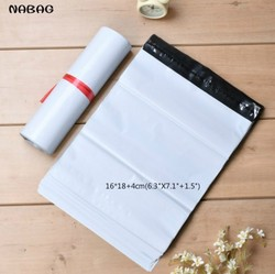 NABAG 15Pcs White Self-seal Adhesive Courier bags Storage Bag Plastic Poly Envelope Mailer Postal Shipping Mailing Bag 16*18+4cm