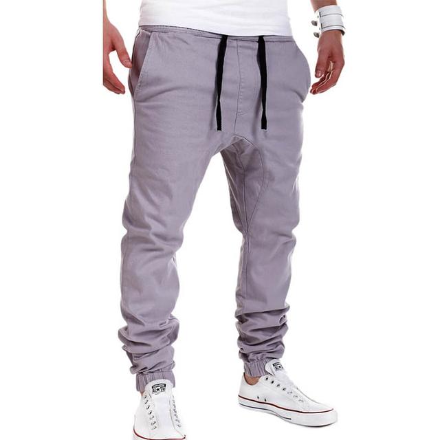 Moda 2016 mens corredores da calça hip hop de fitness pantalon homme calça casual sweatpants gota calças virilha m-xxl a8810