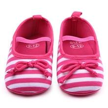 Красивые Полосатые Дизайн Flastic Группа Хлопок Девочка Обувь Детская Одежда Обувь 0-9 М