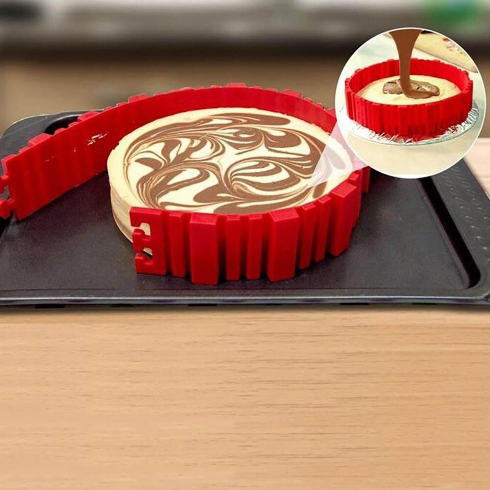 4Pcs/ set Bake Baking Snakes Food Grade Silicone Cake Mold Magic Bake Stitch Any shape Bake Diy All Kinds of Cake Mould Tools