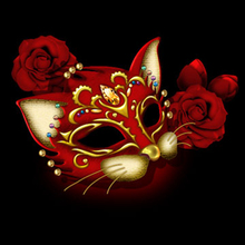 цена на Moge 5D DIY Diamond Painting fox mask party  Dimaond Embroidery party mask fox Diamond Painting red fox mask cross stitch decor