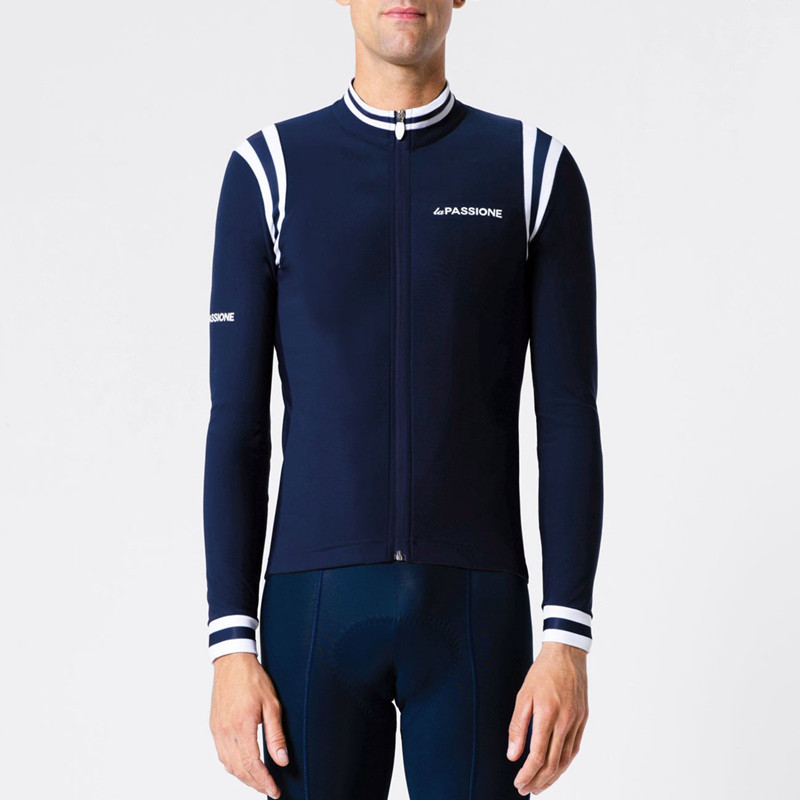 2018 Custom passione long sleeve jersey Winter thermal fleece Hot wool warm jacket cycling Italy Climbing