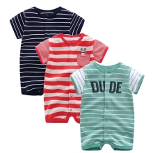 Summer 2018 baby boys clothes cotton Jumpsuit Short sleeve Roupas  Menino for Baby Boy Body overalls , 0-24M baby rompers