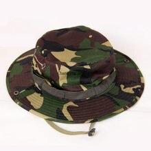 Nuevo caliente sombrero de pesca camuflaje cubo sombrero de pescador Camo  selva Bush sombreros protección UV ba7c44a4a9f