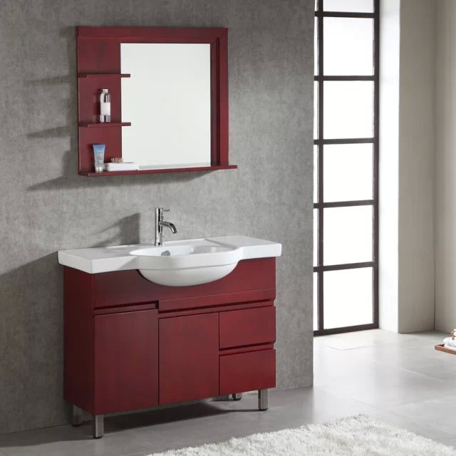 Wood Brown Color Wall Mounted Makeup Bathroom Base Cabinet Vanity In Vanities From Home Improvement On Aliexpress Alibaba Group