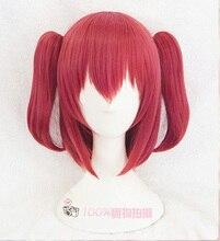 Kurosawa rubinowa peruka do cosplay kochaj życie! Światło słoneczne!! Żaroodporne syntetyczne spinki do włosów kucyki przebranie na karnawał peruki + czapka z peruką