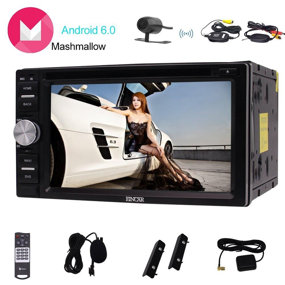 Eincar 6 2 inch touch Screen Android6 0 Car stereo Double din GPS Navigation with DVD
