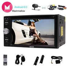 Eincar 6.2 inch touch Screen Android6.0 Car stereo Double din GPS Navigation with DVD Player with External Micro/Wireless Camera