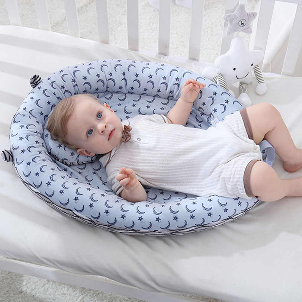 Baby Bassinet Linen Baby Bassinet Lounger Breathable Hypoallergenic Sleeping Bed Cotton Crib