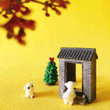 little sheep/door/miniatures/lovely cute/fairy garden gnome/moss terrarium decor/crafts/bonsai/ DIY supplies/toy/model/figurine(China)