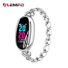 LEMFO E68 Smart Watch Women 0.96 Inch Heart Rate Monitor IP67 Waterproof Sport Fitness Brecelet 14 Days Standby Health Wristband(China)