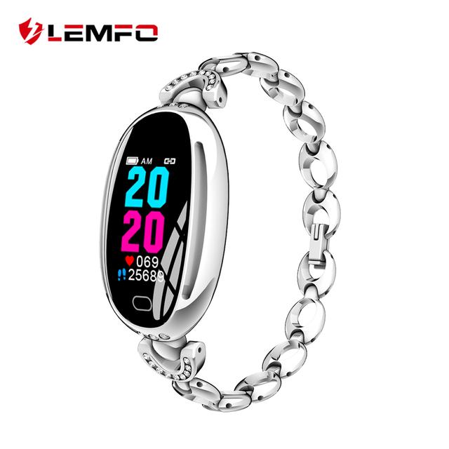 LEMFO E68 Smart Watch Women 0.96 Inch Heart Rate Monitor IP67 Waterproof Sport Fitness Brecelet 14 Days Standby Health Wristband