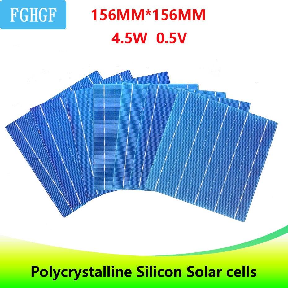100 pièces 4.5 W 6x6 cellules solaires polycristallines photovoltaïques pour le chargeur solaire de panneau solaire de bricolage à la maison