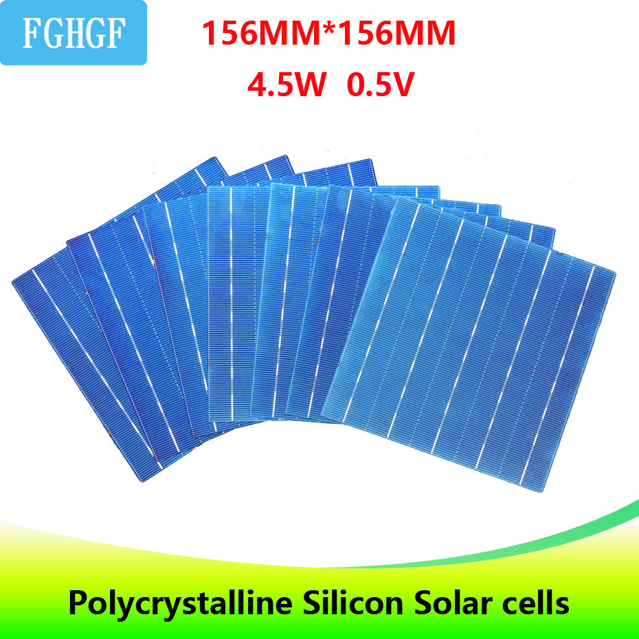 40PCS 4.5W 6x6 Photovoltaic Polycrystalline 5BB Solar Cells  For home DIY Solar Panel solar charger-in Solar Cells from Consumer Electronics
