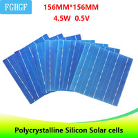 40PCS 4.5W 6x6 Photovoltaic Polycrystalline 5BB Solar Cells For home DIY Solar Panel solar charger