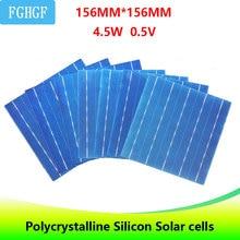40PCS 4.5W 6x6 พลังงานแสงอาทิตย์ Polycrystalline 5BB พลังงานแสงอาทิตย์เซลล์สำหรับ DIY พลังงานแสงอาทิตย์แผงชาร์จพลังงานแสงอาทิตย์