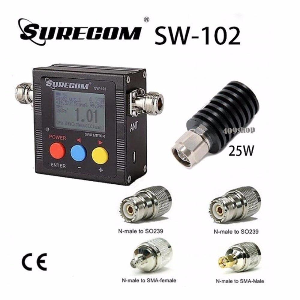 SURECOM SW-102-VU V.S.W.R. MÈTRE + 25 W CHARGE FICTIVE + adaptateur