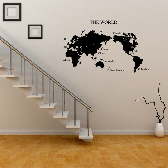 Nueva creative world map etiqueta de la pared diy decoracin del nueva creative world map etiqueta de la pared diy decoracin del hogar pegatinas saln dormitorio fondo gumiabroncs Images