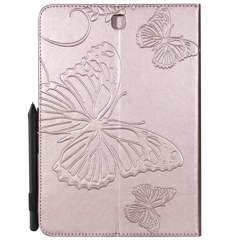 For Samsung Tab A 9.7 T550 Cartoon Butterfly Leather Funda Case For Samsung Galaxy Tab A 9.7\