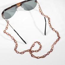 Модный стиль 70 см цепочка для солнцезащитных очков акриловые очки для чтения Регулируемая подвесная Шея цепочка для очков большие аксессуары