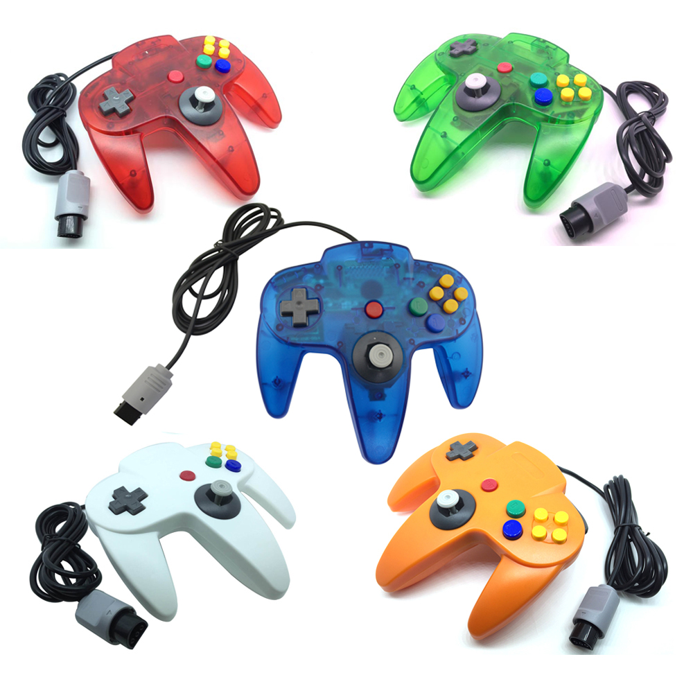 New Color Long Handle Wired Game Controller for N64 Gamepad Joystick for Nintendo for 64 цена 2017
