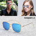 2016 New Fashion Men Women COMPOSIT 1.1 Polarized Sunglasses Brand Design Rectangle Metal Frame Sun Glasses Oculos De Sol Gafas
