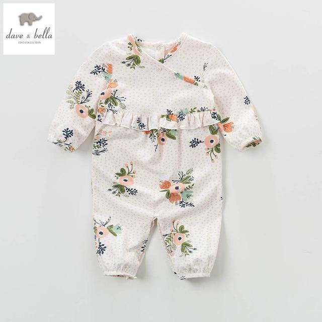 DB4454 дэйв белла весна new baby девушки цветочные комбинезон для новорожденных малышей 1 шт. симпатичные лолита комбинезон