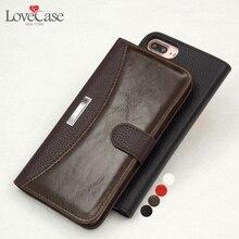 LoveCase Бизнес Flip Leather Case For iPhone 7 6 5 5S SE Case Слот Для Карты Бумажник Телефон Обложка Для iPhone 7 5 5S 6 6s плюс