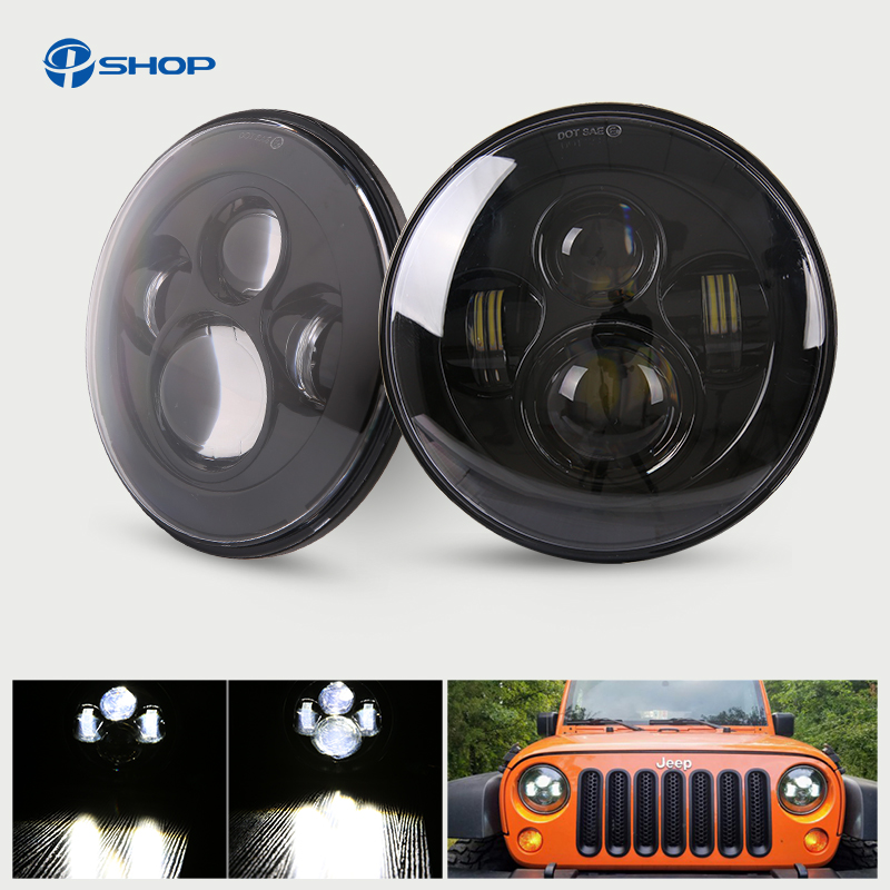 Hot selling FJ Cruiser 7 round Hi low Beam LED headlight 7 inch driving lamps for Jeep wranger Defender Harley Dyna Davidson original new feed motor for roland fj 540 fj 740