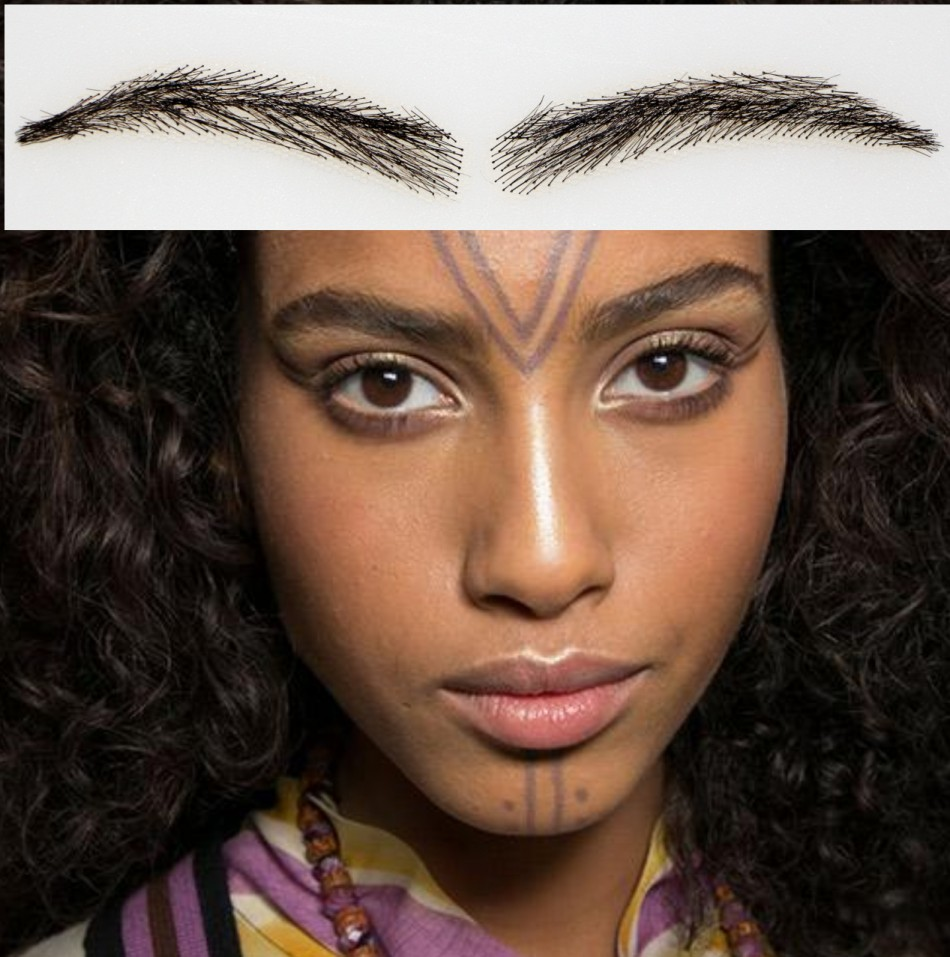 ФОТО 2016 Promotion New Arrival Natural Sobrancelha Angela Eyebrow Free Shipping Human Hair Eyebrows /natural Hair/eyebrow Enhancer
