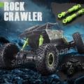 1:18 2.4G 4CH 4WD Carro RC Rock Crawlers Elétrica 4x4 de Alta velocidade de Condução Duplo Acionamento Do Motor Modelo de Carro Off-Road Veículos Brinquedo Bigfoot