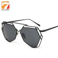 Metal Frame Polarized Sunglasses Women Steampunk Goggles Brand Designer Sun Glasses Men Coating Shade Rose Gold