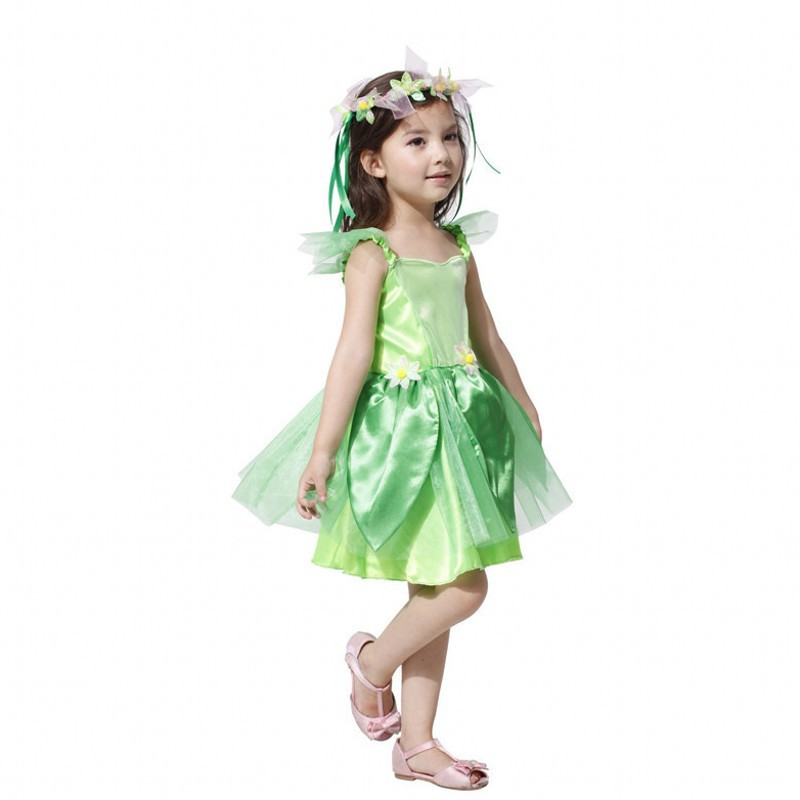 Kids green Tinkerbell Costume Fairy Princess Dress Up Halloween Fancy Dress-in Girls Costumes from Novelty u0026 Special Use on Aliexpress.com | Alibaba Group  sc 1 st  AliExpress.com & Kids green Tinkerbell Costume Fairy Princess Dress Up Halloween ...