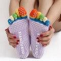 Pilates Calcetines del dedo del pie Cinco Dedos Calcetines de Algodón Mujeres Calcetines Meias Calcetines Mujeres de La Aptitud Física Divertida Calcetines con Dedos