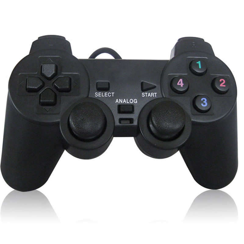 USB Wired PC Game Controller Gamepad Shock Vibration <font><b>Joystick</b></font> Game Pad Joypad Control for PC Computer <font><b>Laptop</b></font> Gaming Play image